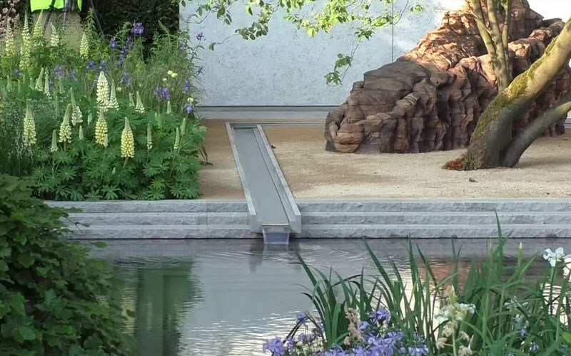 The Laurent Perrier garden for the 2014 Chelsea Flower Show is finished