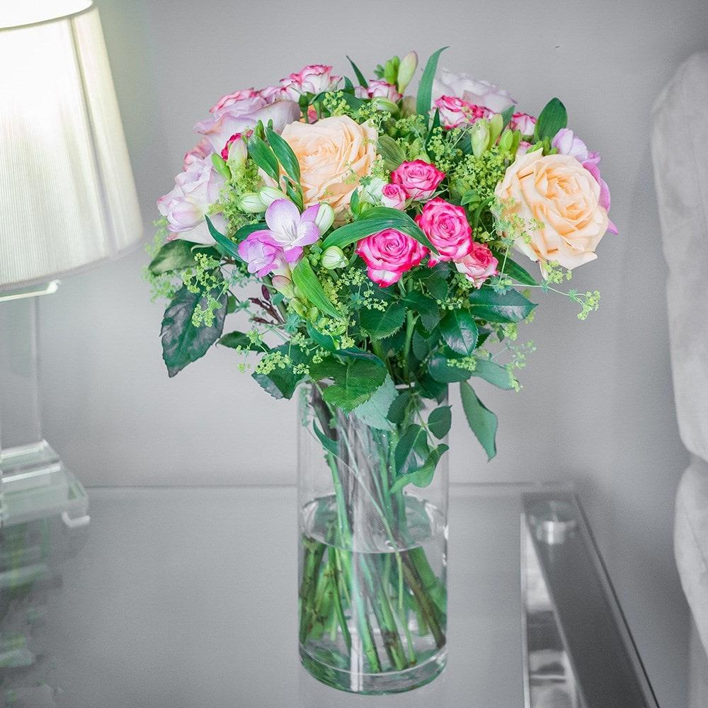 Scented freesia & roses