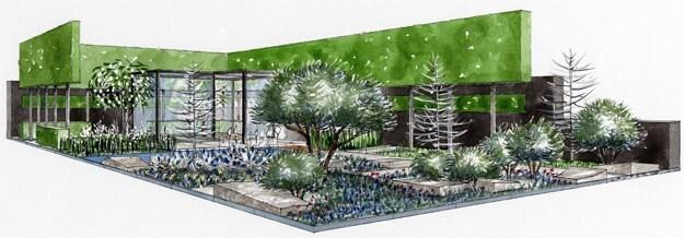 plan of Luciano's The Laurent-Perrier Garden