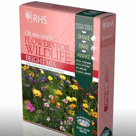 Shake and sow Flowers for wildlife - bright mix