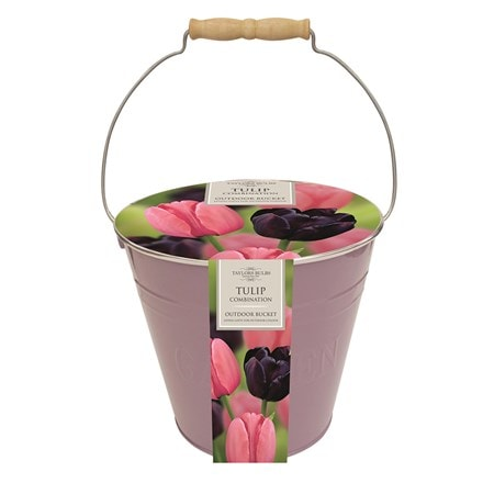 Tulip combination outdoor metal bucket