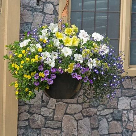 Nautical chic Easyplanter for hanging baskets