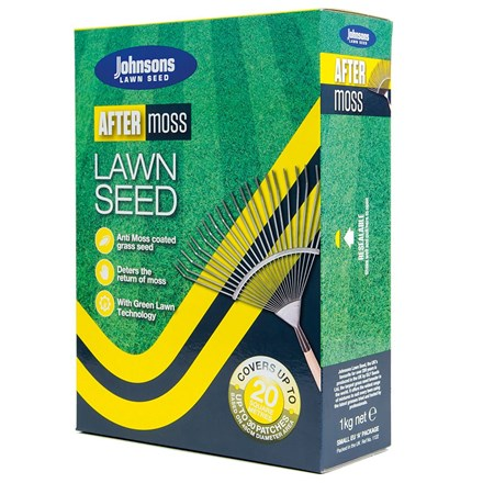 Johnsons After moss lawn seed