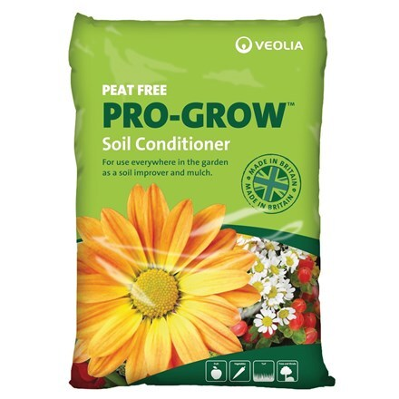Veolia organic soil conditioner - pro-grow peat free 60 litre bags multi-buy