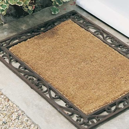 Cast iron and coir doormat