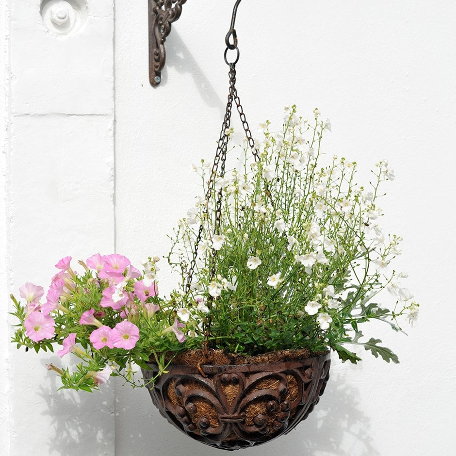Cast iron hanging basket