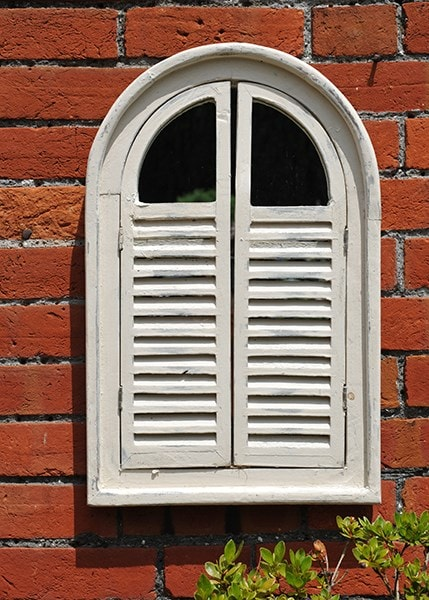 Buy Garden Wall Mirror With Shutters Delivery By Crocus