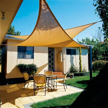 Coolaroo 5m triangle shade sail - 2 colours