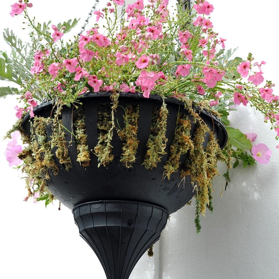 Pair of self-watering hanging baskets