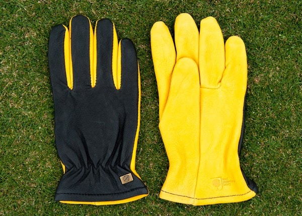 RHS gold leaf dry touch gloves - mens/ladies