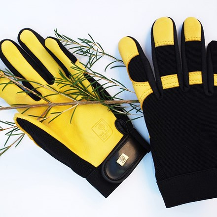 RHS gold leaf soft touch gloves - mens/ladies