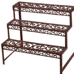 Cast iron rectangular etagère