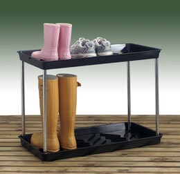Two-tier muddy boot tray