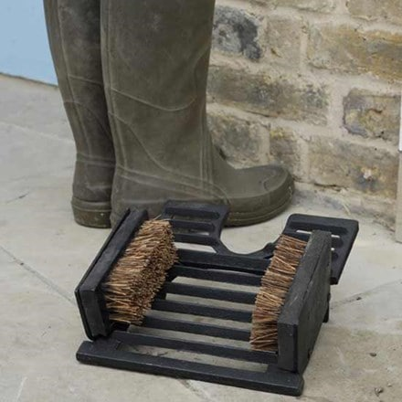Cast iron boot brush and jack