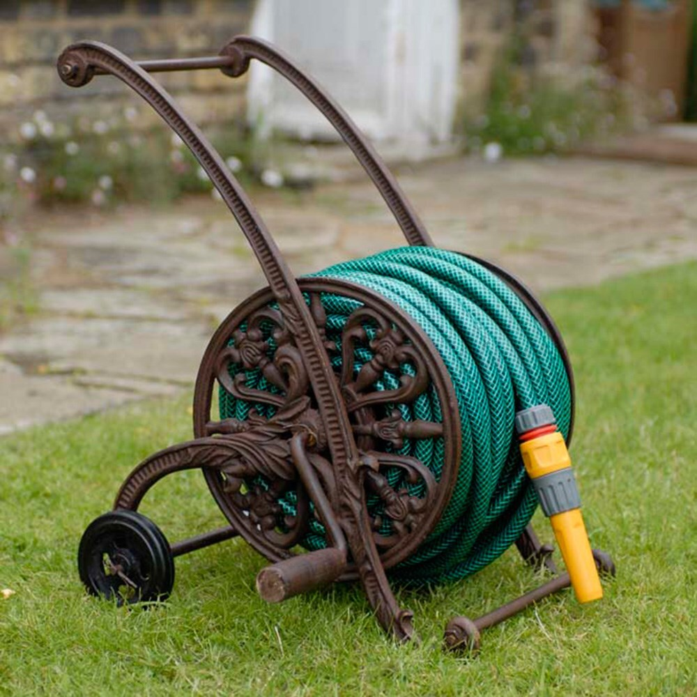 Cast iron hose trolley & Buy Hose reels: Delivery by Waitrose Garden in association with Crocus