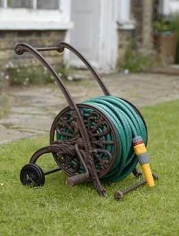 Cast iron hose trolley
