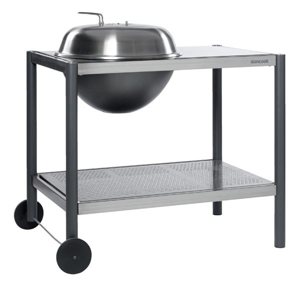 Dancook 1500 kettle charcoal barbecue with preparation Table