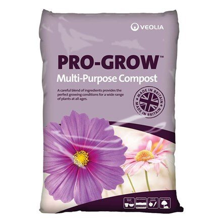 Veolia general purpose compost - pro-grow 50 litre bags multi-buy
