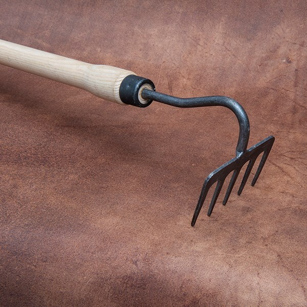 DeWit 5 tine handrake drop grip handle