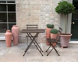 Rome folding bistro set - bronze