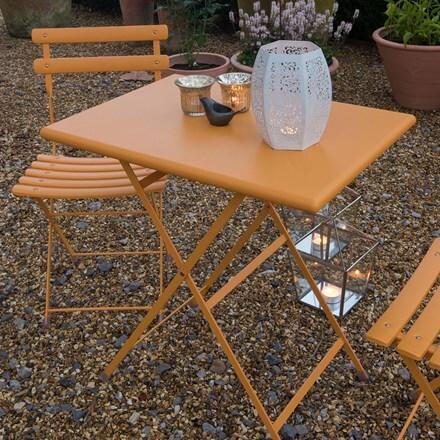 Rome folding bistro set - orange