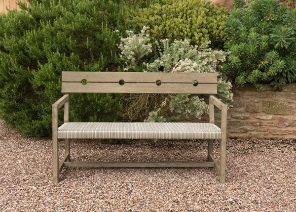 Oban rattan sofa bench