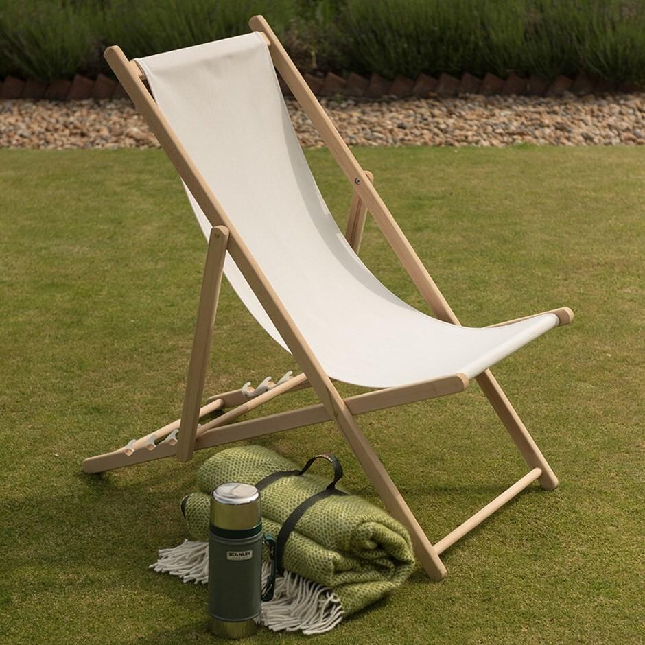 Buy Garden deck chair - ecru : Delivery by Waitrose Garden in ...