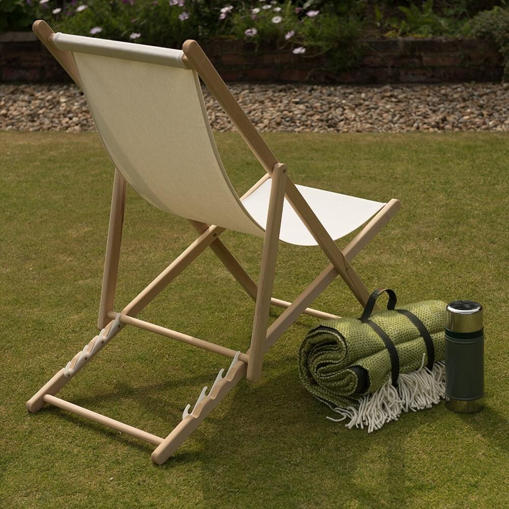 Garden deck chair - ecru