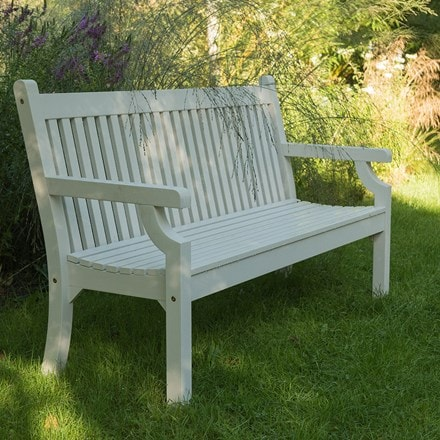 Milton bench white