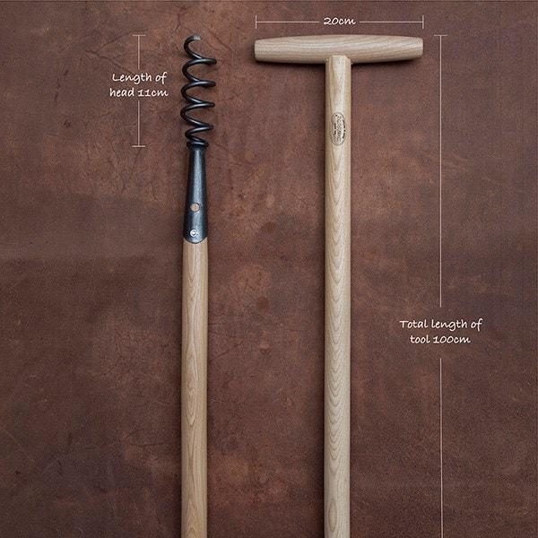 De Wit corkscrew weeder long T grip handle
