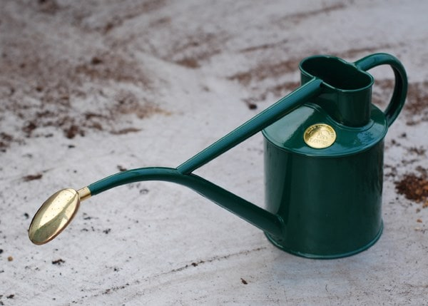 Haws green metal 1 litre watering can