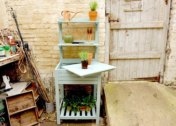 Buy Space Saving Potting Bench With Storage Eau De Nil Delivery By
