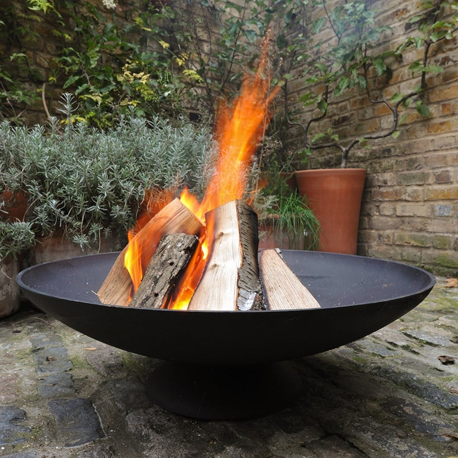 Buy Cast Iron Disc Fire Pit Delivery By Waitrose Garden