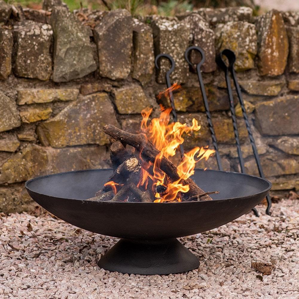 Cast iron disc fire pit