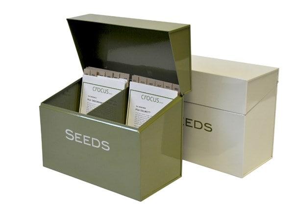 buy calendar seed storage box delivery by waitrose garden. Black Bedroom Furniture Sets. Home Design Ideas