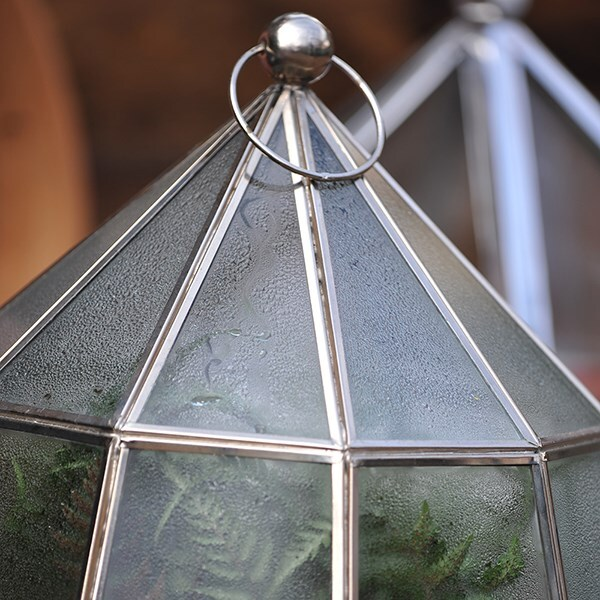 Victorian nickel lantern cloche