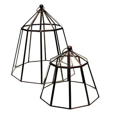 Victorian bronze lantern cloche