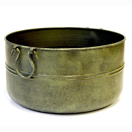 Verdigris plant bowl/drink bucket