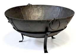 Large Indian brazier bowl