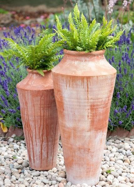 Terracotta oil pot