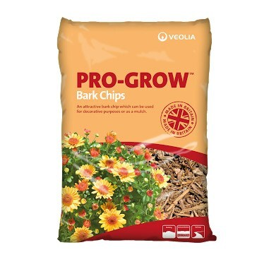 Veolia Pro-Grow bark chips - 70 litre bags multi-buy