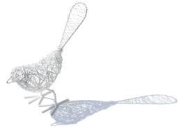 Wire bird  - white