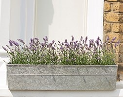 Embossed galvanised window trough