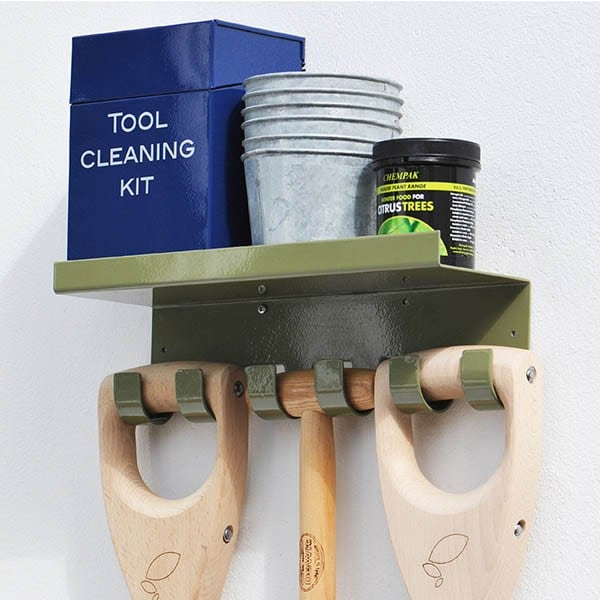 Triple tool hook with shelf