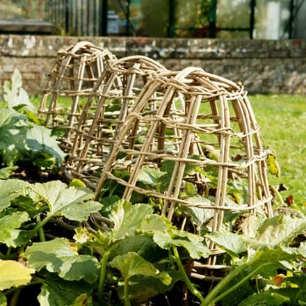 Woven willow cloches - set of 3