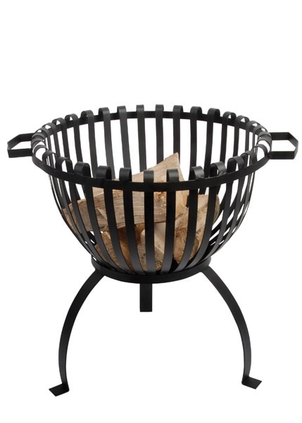 Steel fire basket