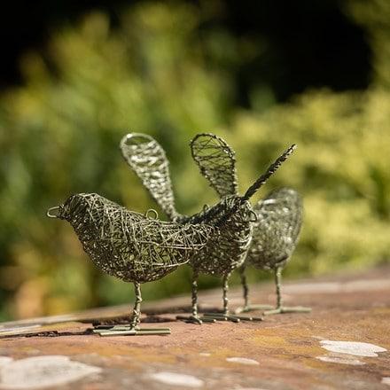 Wire bird - green