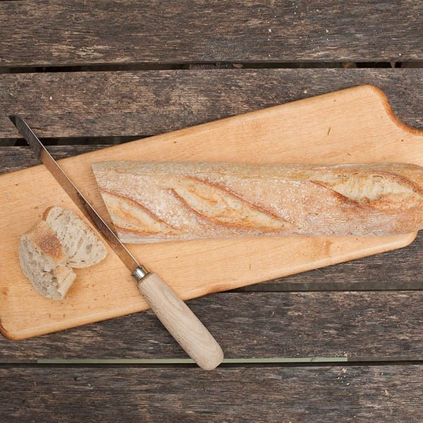 Wooden bread serving board