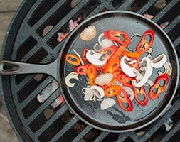 Cast iron fryer for outdoor cooking