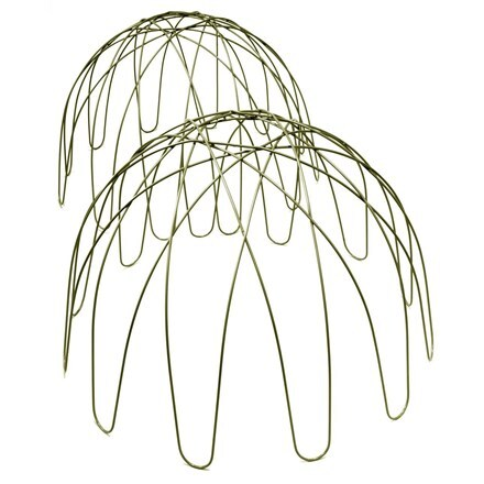 Dome plant support - green